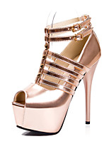 Women's Shoes  Stiletto Heel Heels/Peep Toe/Platform/Comfort/Open Toe Sandals Casual Black/Silver/Gold/Champagne