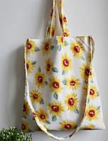 Women 's Canvas Shoulder Bag - Yellow