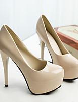 Women's Shoes Faux Leather Stiletto Heel Heels Pumps/Heels Wedding/Party & Evening Black/White/Burgundy