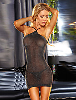 Women Lycra Sexy Slim Sexy Little Fantasies/Sleepwear Gowns Black