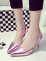 Women's Shoes Stiletto Heel Pointed Toe Pumps/Heels Dress Pink/Silver