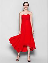 Asymmetrical Chiffon Bridesmaid Dress - Ruby A-line Sweetheart