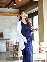Women's Casual Maxi Plus Sizes Micro-elastic Sleeveless Maxi Maternity Dress (Cotton)