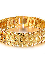 Men's/Women's 18K Gold Plated Chain With Non Stone Bracelet