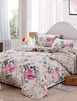 Floral Cotton Bedding Set of 4pcs Queen Size