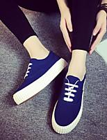Zapatos de mujer Tela Plataforma Plataforma/Creepers/Punta Redonda Sneakers a la Moda/Mocasines Exterior/Casual Negro/Azul/Rojo/Blanco