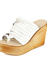 Women's Shoes  Wedge Heel Creepers Sandals Casual White/Gray
