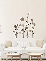 Wall Stickers Wall Decals Style Beautiful Flowers PVC Wall Stickers