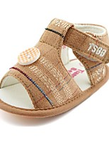 Baby Shoes Casual Fabric Sandals Khaki