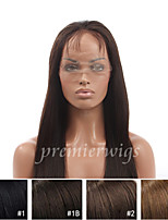 10''-24'' Yaki Straight 100% Indian Remy Virgin Human Hair Wigs Full Lace Wigs With Baby Hair For Blacek Women