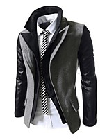 Men's Casual Long Sleeve Regular Jacket (Cotton)