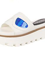 Chaussures Femme - Extérieure - Noir / Blanc - Plateforme - Compensées - Sandales - Similicuir