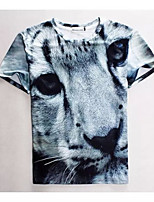 Men's High Quality Creative Special AnimalFunny Leisure Summer Breathable 3D Style T-Shirt——The Small Leopard