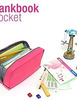 stile coreano tasca multifunzionale tela bankbook sacchetto cosmetico (colore casuale)