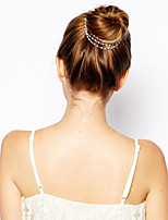 Women Alloy Bohemian Head Chain With Casual/Outdoor Headpiece Gold