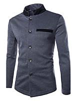 Men's Long Sleeve Regular Coat , Others
