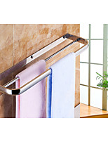 Towel Bars with Hooks,Contemporary Chrome Finish Two Bars Active Stainless Steel,Bathroom Accessory