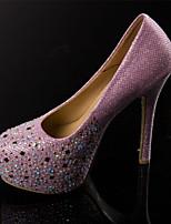 Women's Shoes Stiletto Heel Platform Pumps/Heels Casual Pink/White