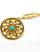 Fashion Summer Gift 33mm Alloy Mi Moneda Gold Dream Catcher Coin for 35mm Coin Necklace Holder Pendant
