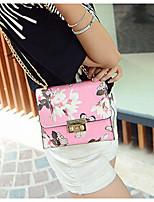 Women 's PU Baguette Carry-on Bag - White/Pink/Blue/Black