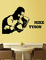 Wall Stickers Wall Decals Style Tyson Sports Figures PVC Wall Stickers