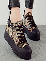 Scarpe Donna - Sneakers alla moda - Tempo libero / Casual - Plateau / Creepers / Punta arrotondata - Piatto - Di corda -Nero / Grigio