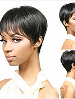 New Arrival Black 1B Color Short Straight  Hair Wigs Capless Synthetic Wig  Natural Sexy Daily Wigs