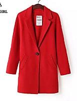 LIVAGIRL®Women's Coat Fashion Long Sleeve Loose Slim Woolen Overcoat Europe Style Winter Keep Warm Outwear