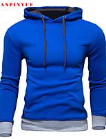 Sets Activewear Uomo Casual/Da ufficio/Attività sportive Tinta unita Manica lunga Misto cotone