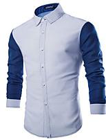 Camisa De los hombres Casual Algodón - Manga Larga