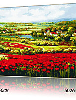 DIY Digital Oil Painting With Solid Wooden Frame Family Fun Painting All By Myself     The Flowers 5026
