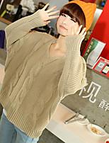 Women's Beige Pullover , Casual Long Sleeve