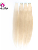 20pcs/lot Stock Light Color Mongolian Remy Tape In Hair Extensions 20 inch Skin PU Weft Hair Extensions NEW!!!