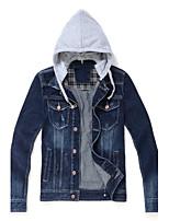 Men's Long Sleeve Jacket , Denim Casual