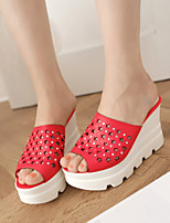 Women's Shoes  Wedge Heel Wedges/Open Toe Slippers Dress Black/Red/White