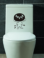 Wall Stickers Wall Decals, Lovely Boy Pee PVC Toilet Wall Sticker