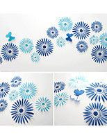 3D DIY 16pcs Sunflower Wall Stickers Art Decals