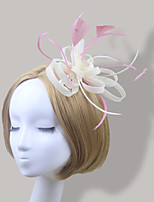 Women Fabric Hair Comb , Party / Casual Feather / Satin Headpiece