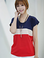 Women's Casual Inelastic Short Sleeve Regular T-shirt (Cotton Blends)