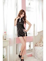 Vêtement de nuit Femme Chemises & Blouses/Lingerie en Dentelle/Satin & Soie/Ultra Sexy/Body/Uniformes & Tenues ChinoisesMélanges de