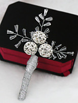 Handmade Christmas Snowballs Style Luxury High-end Boutonnieres