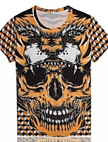 Men's High Quality Personality Ereative Summer Breathable 3D Style T-shirt——The Tiger Skull