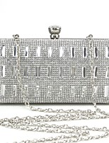 Handbag Metal/Polyester Evening Handbags/Clutches/Mini-Bags/Wallets & Accessories With Crystal/ Rhinestone/Metal