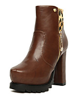 Women's Shoes Chunky Heel Fashion Boots Boots Casual Black/Brown