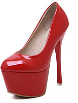 Women's Shoes Patent Leather Stiletto Heel Platform Comfort Round Toe Pumps Party and Dress More Colors available