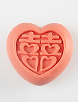 amour heureux moule caractère de savon en forme, fondant moule en silicone gâteau au chocolat, des outils de décoration ustensiles de