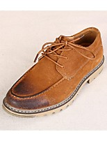 Men's Shoes Casual Suede Oxfords Brown/Orange