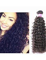 3pcs/lot Brazilian Curly Hair Bundles Unprocessed Brazilian Kinky Curly Hair Weave #1b 8