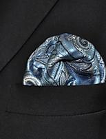 Men's Business Paisley Blue  Pocket Square
