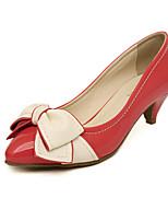 Zapatos de mujer Cuero Sintético Tacón Bajo Tacones Pumps/Tacones Vestido/Casual Negro/Rosa/Morado/Rojo/Beige